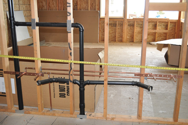 8 rough plumbing electrical hvac price builders for New construction plumbing rough in